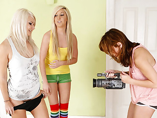 Three step sister Sasha, Tosh and Callie play each other pussies