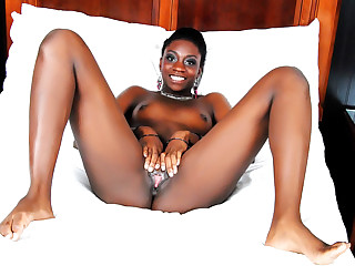 Pretty black girl Jayla Dream fills her tight cunt with a big white cock